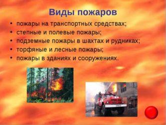 Пожары понятие виды пожаров причины возникновения