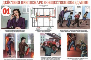 Памятка что делать при пожаре в здании?