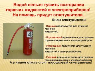 Каким огнетушителем можно тушить бензин?